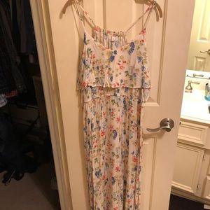 Lauren Conrad white and floral maxi dress